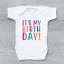 It/'s My Birthday Girls Baby Vest Baby Grow 1st First Birthday Top