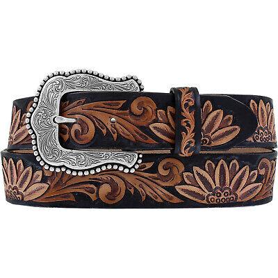38  C51263 New Tony Lama DELHEART DAISY Leather Belt  Made in The USA 36