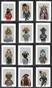 DOG-DICTIONARY-A4-FUNNY-Prints-Puggle-Pug-Husky-Labrador-King-Charles-Frameless