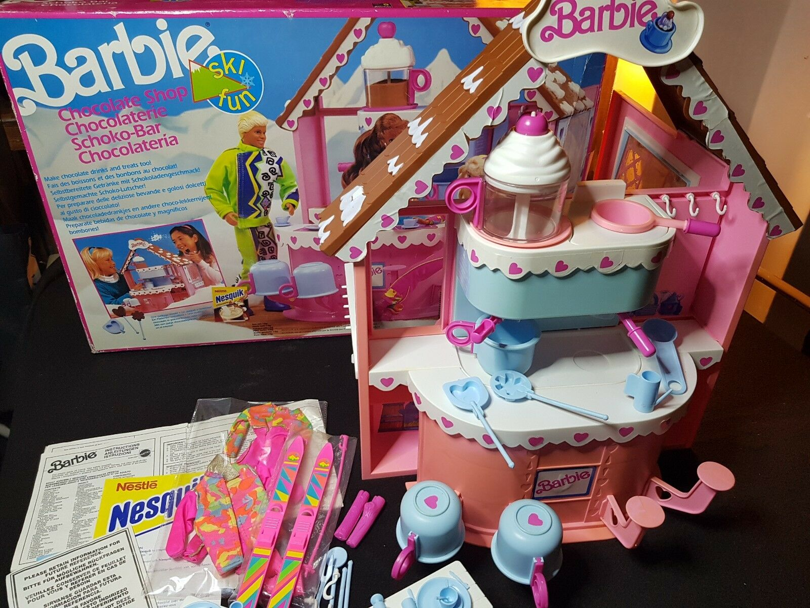 Barbie Ski Fun - La Chocolaterie en boite Mattel 1990 TBE
