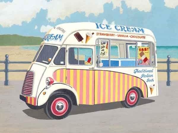Ice Cream Van fridge magnet (og)