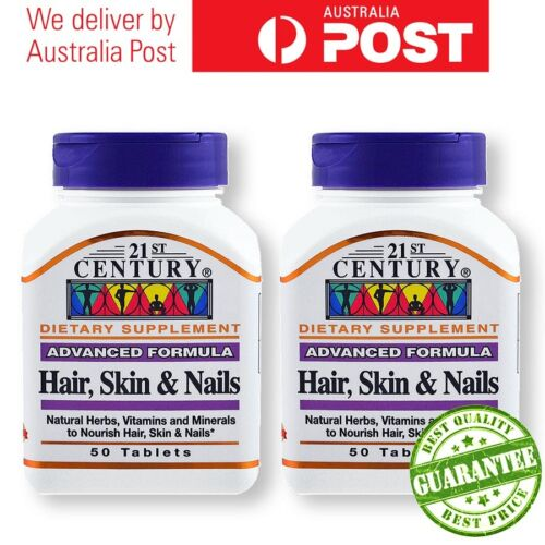 21st Century HAIR SKIN AND NAILS 50 TABS x 2 bottles
