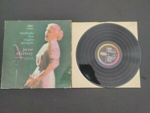 Ballads For Night People June Christy Vinyl LP Record (Capitol ST1308) USA