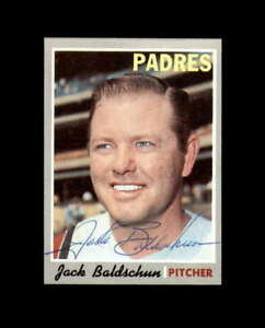 Jack Baldschun Hand Signed 1970 Topps San Diego Padres Autograph