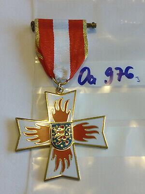 oa976 Orden Feuerwehr Thüringen Feuerwehr Ehrenkreuz golden