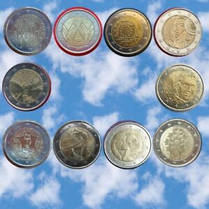 Pièces de 2 € commémoratives EURO / FRANCE