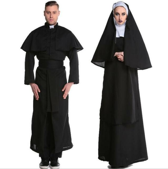 Adult Lady Nun Costume Ladies Sister Fancy Dress Valak Religious Habit Outfit