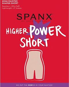 SPANX-Higher-Power-Short-High-Waisted-Shaper-Short-Soft-Nude-CHOOSE-SIZE-NEW