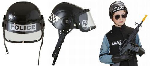 Moderner Kinder Polizeihelm + Visier SWAT Neu+ OVP ! Verkleiden Rollenspiel