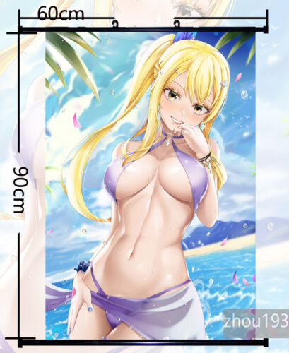 Fairy Tail Lucy Heartfilia Wall Scroll Poster Home Decor Holiday Gift 60*90CM