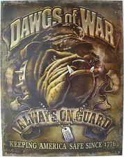 Vintage Replica Tin Metal Sign dawgs of war 1776 usa us military army navy 2148
