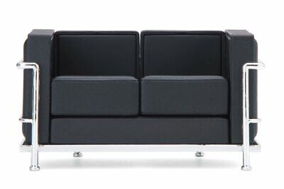 Dollhouse Sedia di design 1:12 Sofa di REAC Japan nero black REC033