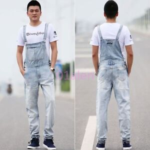 db1b3db948f Image is loading Mens-Denim-Jeans-Jumpsuits-Overalls-Dungarees-Suspender- Trouser-