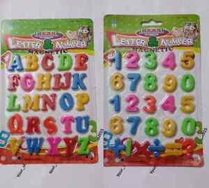 Mini réfrigérateur aimants Assortiment ABC Magnétiques Alphabet Lettres Maths Chiffres Signes  </span>