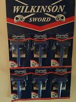 6 Wilkinson Sword Classic Double Edge Razor + 6 Blade Old Stock Gillette Company