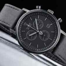 Reloj con Cronógrafo Para Hombre DETOMASO MILANO NEGRO MATE Swiss ISA Movimiento Nuevo £ 159