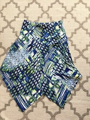 4/11 Systematic Women's Chico's 2 Skirt In Blue Yellow Good For Antipyretic And Throat Soother