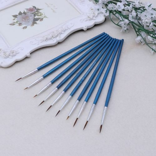EP/_ 10Pcs Artist Paint Brush Acrylic Watercolor Round Fine Hand Point Tip Seraph