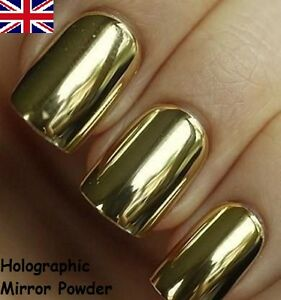 Image Is Loading Gold Mirror Powder Chrome Effect Art Nail Pigment