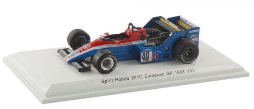 Spark espíritu Honda 201c Europea Gp Brands Hatch 1983-S Johansson 1//43 Escala