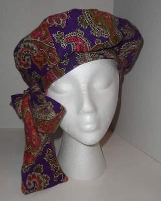 Vintage ALDOLFO II PARIS NY Paisley wBow Fashion Gold Diggers Top Funkadelic Hat