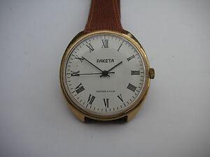 Vintage-Soviet-Raketa-2609-Roman-dial-hand-wind-dress-watch