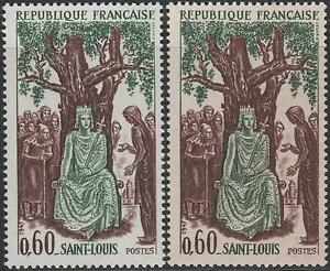 FRANCE-TIMBRE-N-1539-034-LOUIS-IX-SAINT-LOUIS-VARIETE-DE-PAPIER-034-NEUFS-xx-LUXE