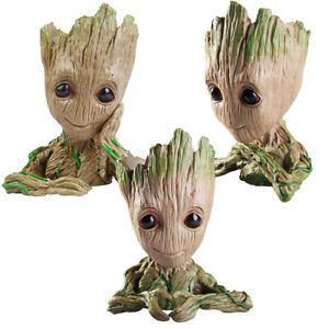 6-034-Baby-Groot-Flower-Holder-Pot-Pen-Toy-Succulent-Planter-Faceplate-Shipping