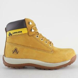 e7cef07b07e Details about Amblers Safety FS102 Unisex Mens Ladies Steel Toe Cap Lace SB  Safety Boots Honey