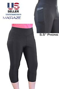 Women-Yoga-Capri-pants-Fitness-Leggings-Running-Gym-Stretch-Sports-High-Waist