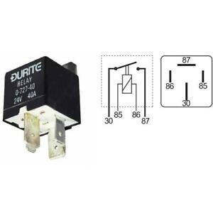 Durite Relay Heavy Duty Make//Break 100 amp 12 volt