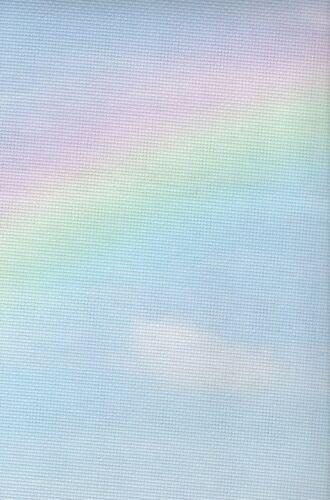 Fabric Flair Rainbow 14 count Aida with sparkles 45 x 50cm piece