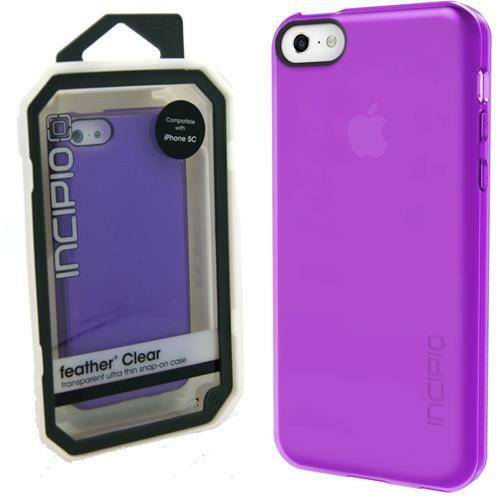 cheap for discount 7c661 3759c Incipio Feather Clear Transparent Case Cover for iPhone 5c Purple 19.99