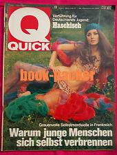 QUICK 1970 Nr 13: Verführung für Deutschlands Jugend: Haschisch