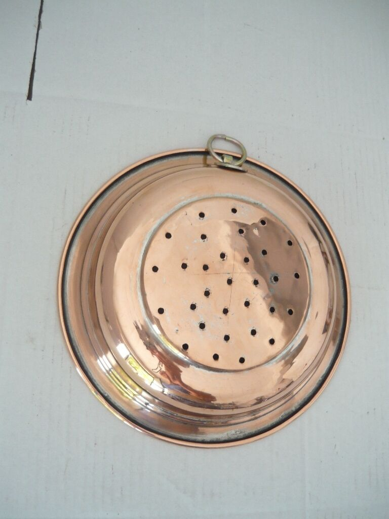 Petit égouttoir égouttoir cuivre avec anneau