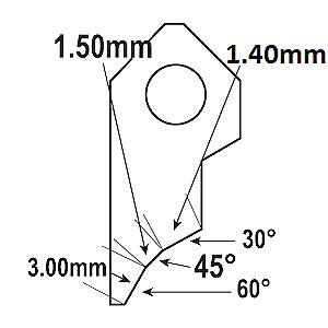 B4 91° Flat Valve seat cutting insert bit tip,SERDI ROTTLER NEWEN SUNNEN GOODSON