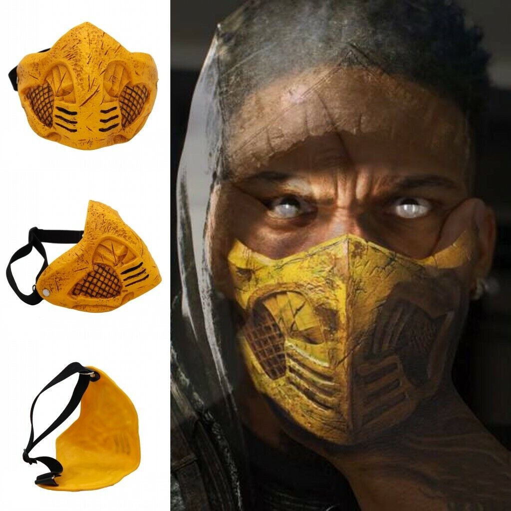 Adult Mortal Kombat X Pvc Mask Cosplay Scorpion Halloween