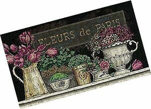 Dimensions Crafts Fleurs De Paris Flowers Counted Cross Stitch Kit