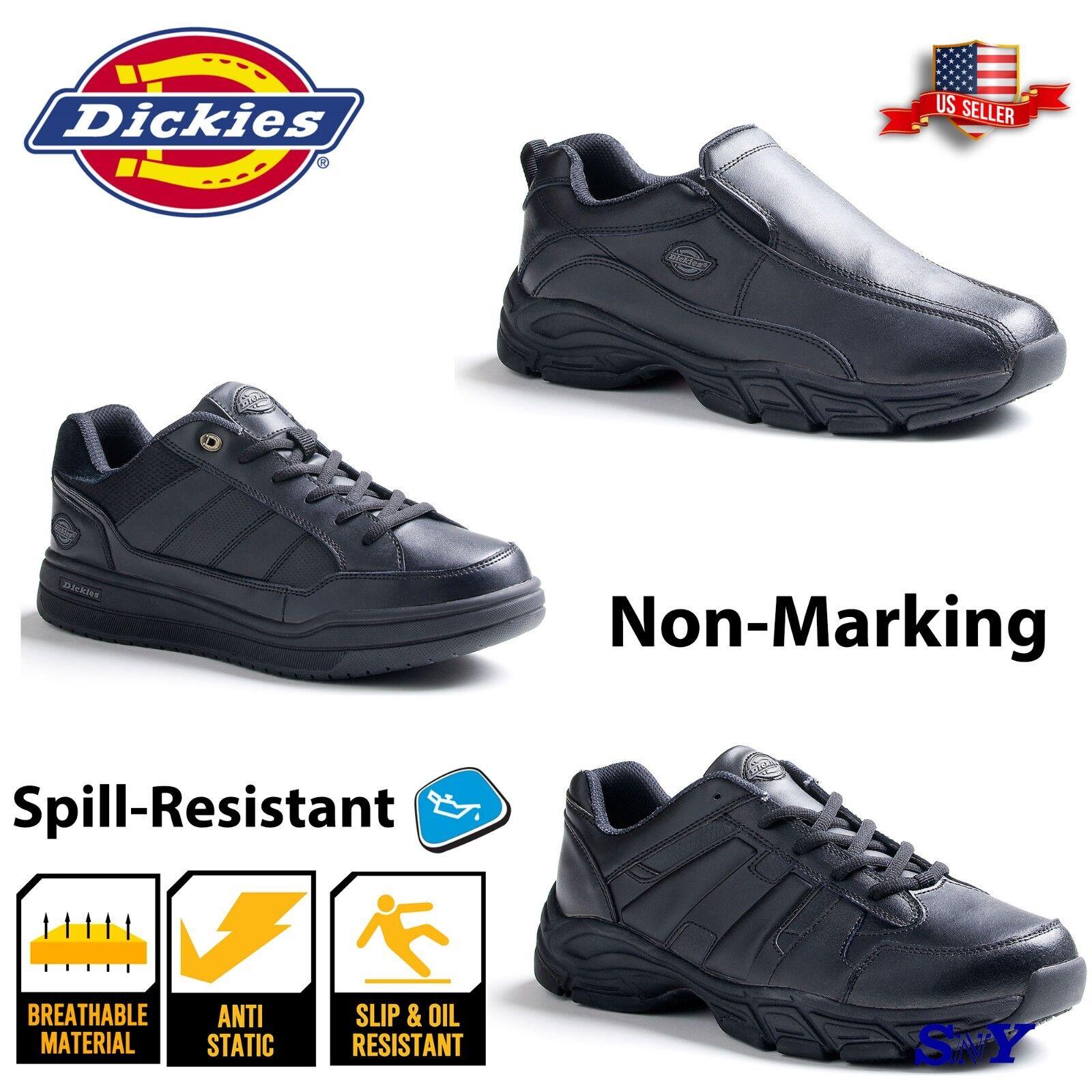 Women's Leather Black Black Black Slip Spill RESISTANT Work shoes Sneakers Non Marking dk 0f72ef