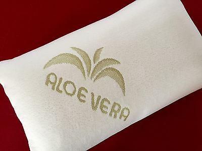 Visko Cuscino Viaggio, Cuscino Cervicale, Cuscino Con Aloe Vera Riferimento 40x25x12 Cm- Chiaro E Distintivo