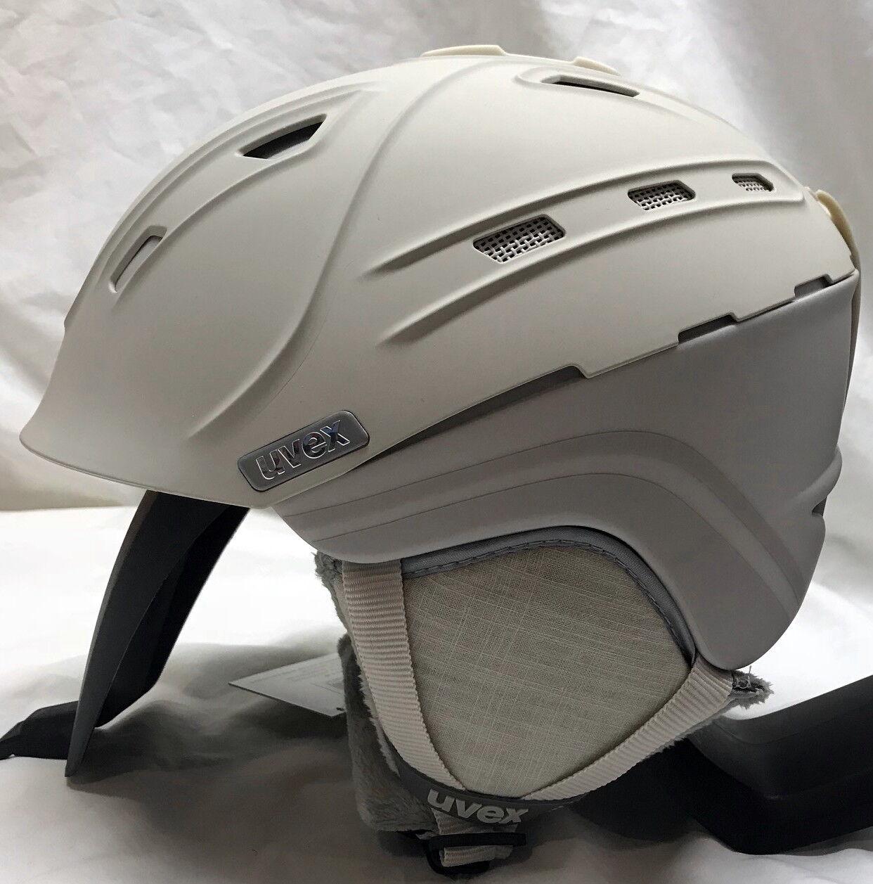 NEW UVEX P2US WL Damen SKI SNOWBOARD HELMET 51 51 HELMET - 55 Sm Creme / Grau Mat eb3d1f