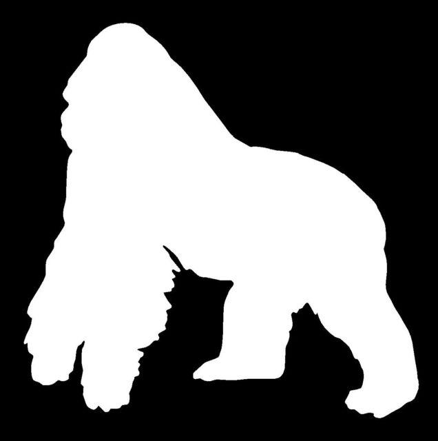 GORILLA Vinyl Decal Sticker Car Window Wall Bumper Monkey Animal Cute Jungle Ape