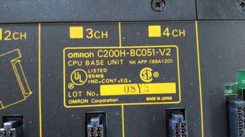 New Other CPU Base Unit OMRON C200H-BC051-V2