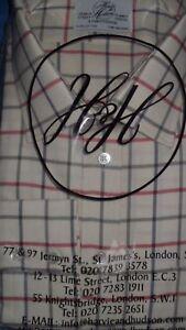 spazzolato quadri Cotton 19 grn Navy Camicia Harvie Hudson a singolo 36 rosso 6IBwnqWz5