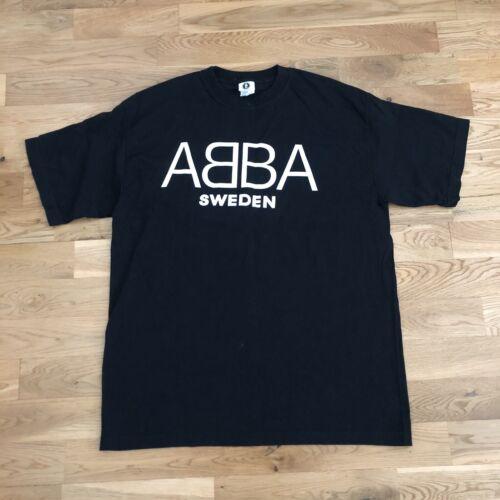 Vintage 90's Abba Sweden Pop Disco Concert Band T-