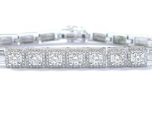 18Kt-Round-Cut-Diamond-7-Stationary-White-Gold-Bracelet-6-75-034-2-45Ct