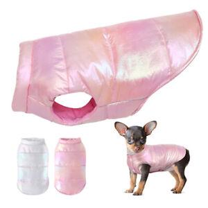 Hundemantel-Winter-Baumwolle-gepolstert-Chihuahua-Jacke-Hundekleidung-Weste-Rosa