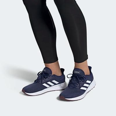 Adidas Mens Duramo 9 Running Shoes Dark Blue/White Sport Gym EE7922 UK 7.5 to 11