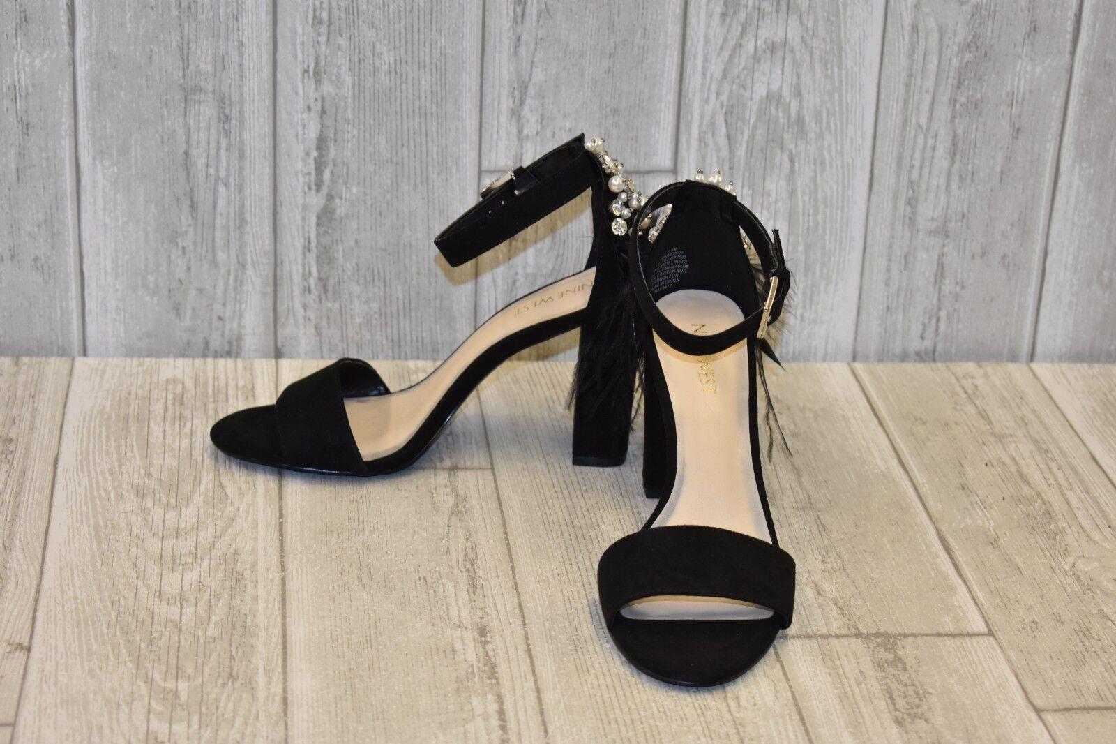 Nine West Aaronita Heeled Sandal - Women's Size 6.5M - Black