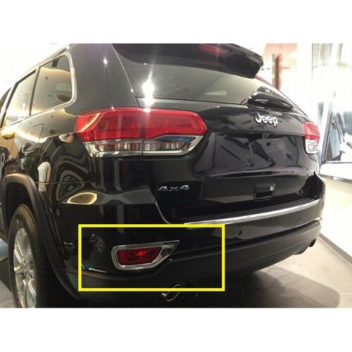For Jeep Grand Cherokee 2014-2017 Chrome Rear Fog Light Lamp Molding Cover Trim